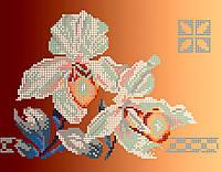 Схема для вышивки / вышивания бисером «Дві орхідеї» (A4) 20x25