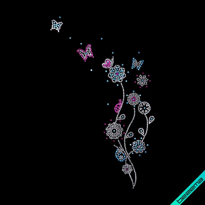 Дизайн на клатчи Букет (стекло,3мм-бел.,3мм-роз.,4мм-голуб.)