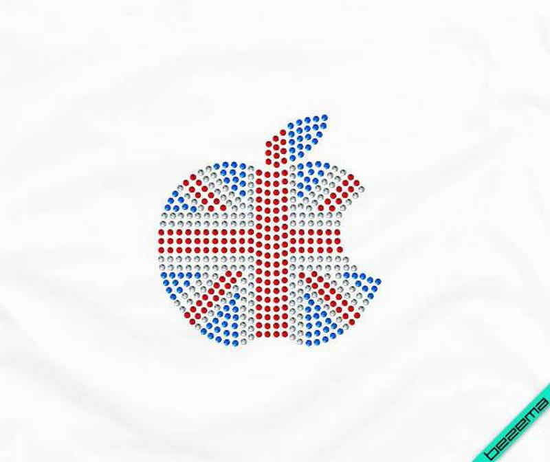 Дизайн на изделия из ткани Флаг Англии (Стекло,2мм-бел.,2мм-красн.,2мм-син.)
