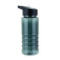 Бутылка Bruno пластиковая, с носиком-трубочкой, серая, 550 мл