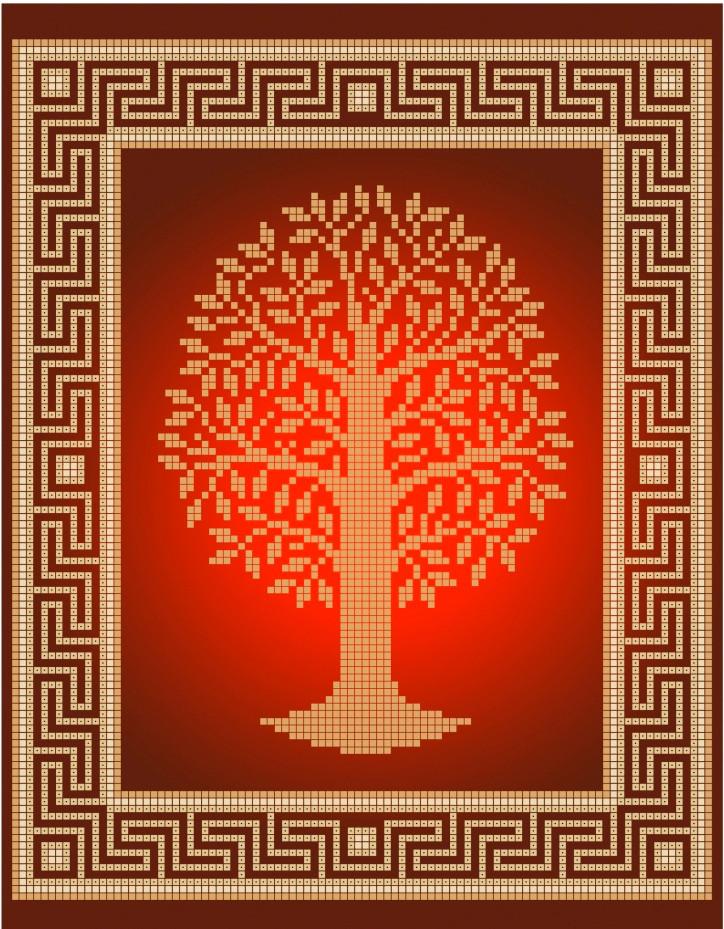 Схема для вышивки / вышивания бисером «Дерево» (A4) 20x25
