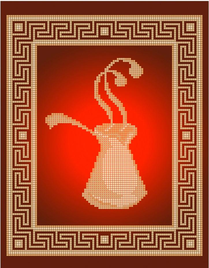 Схема для вышивки / вышивания бисером «Турочка» (A4) 20x25