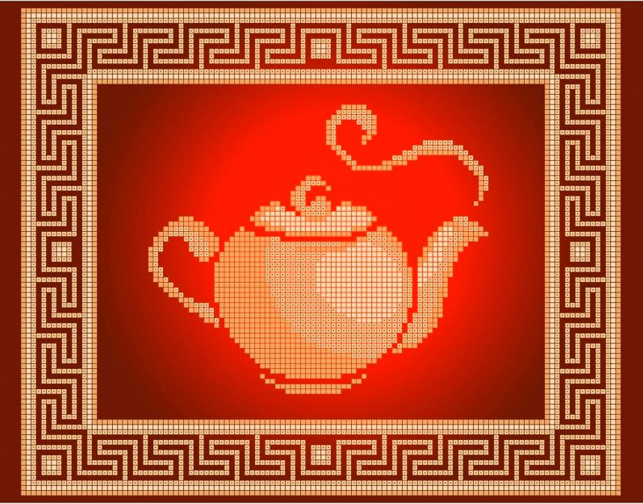 Схема для вышивки / вышивания бисером «Чайник» (A4) 20x25