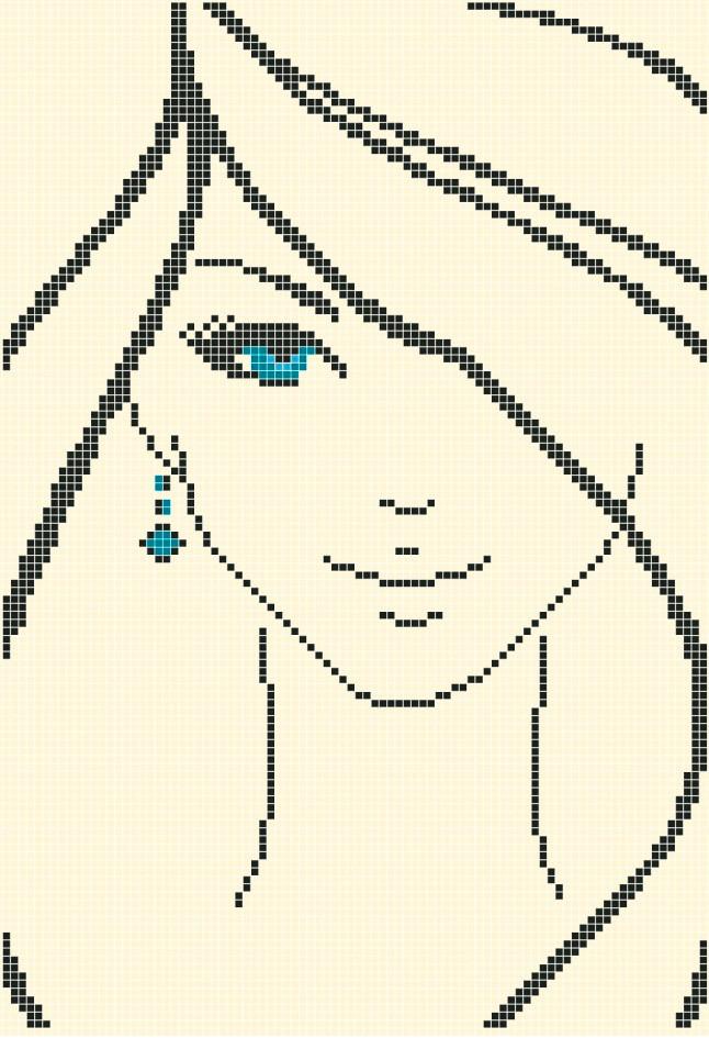 Схема для вишивки / вишивання бісером «Юність» (A4) 20x25