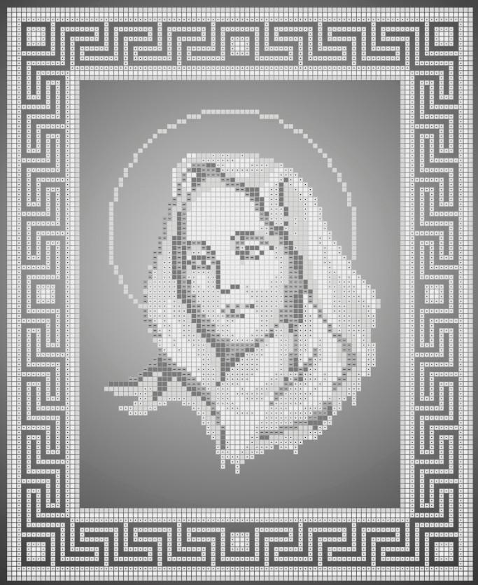 Схема для вышивки / вышивания бисером «Марія» /срібло/ (A4) 20x25