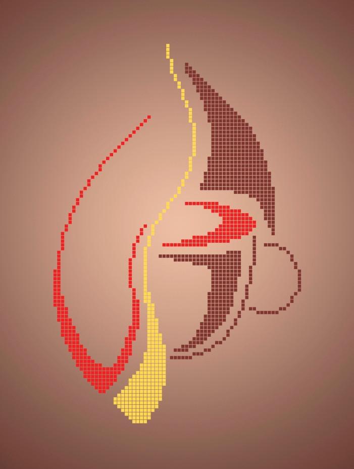 Схема для вышивки / вышивания бисером «Чари кави»  (A4) 20x25