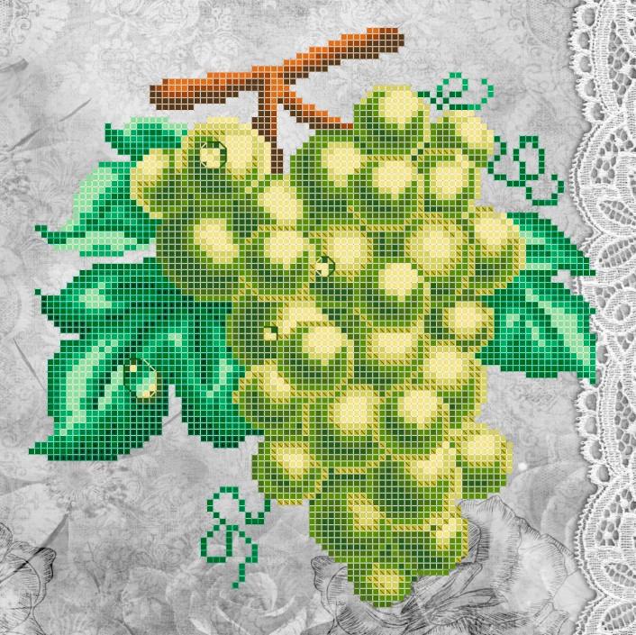 Схема для вышивки / вышивания бисером «Зелене гроно» (A4) 20x25