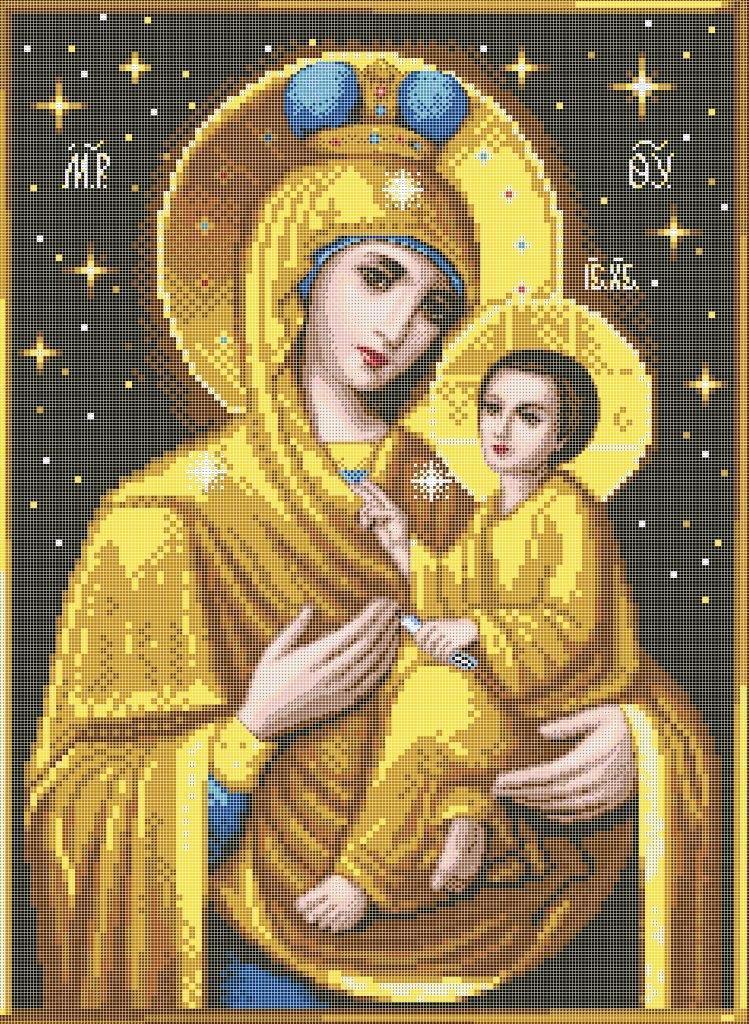 Схема для вышивки / вышивания бисером «Матір Божа з Ісусом» (A1) 60x80