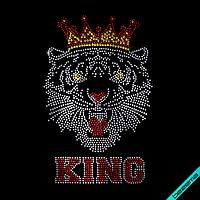 Термодрук на бавовну Тигр КING (Скло, 2мм-бенз,2мм-червон.,4мм-зол.)
