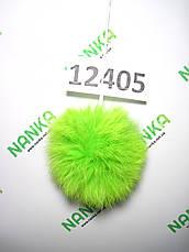 Меховой помпон Кролик, Неон Салат, 8 см, 12405, фото 2