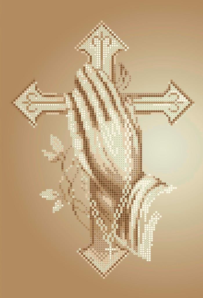 Схема для вышивки / вышивания бисером «Молитва»  (A4) 20x25