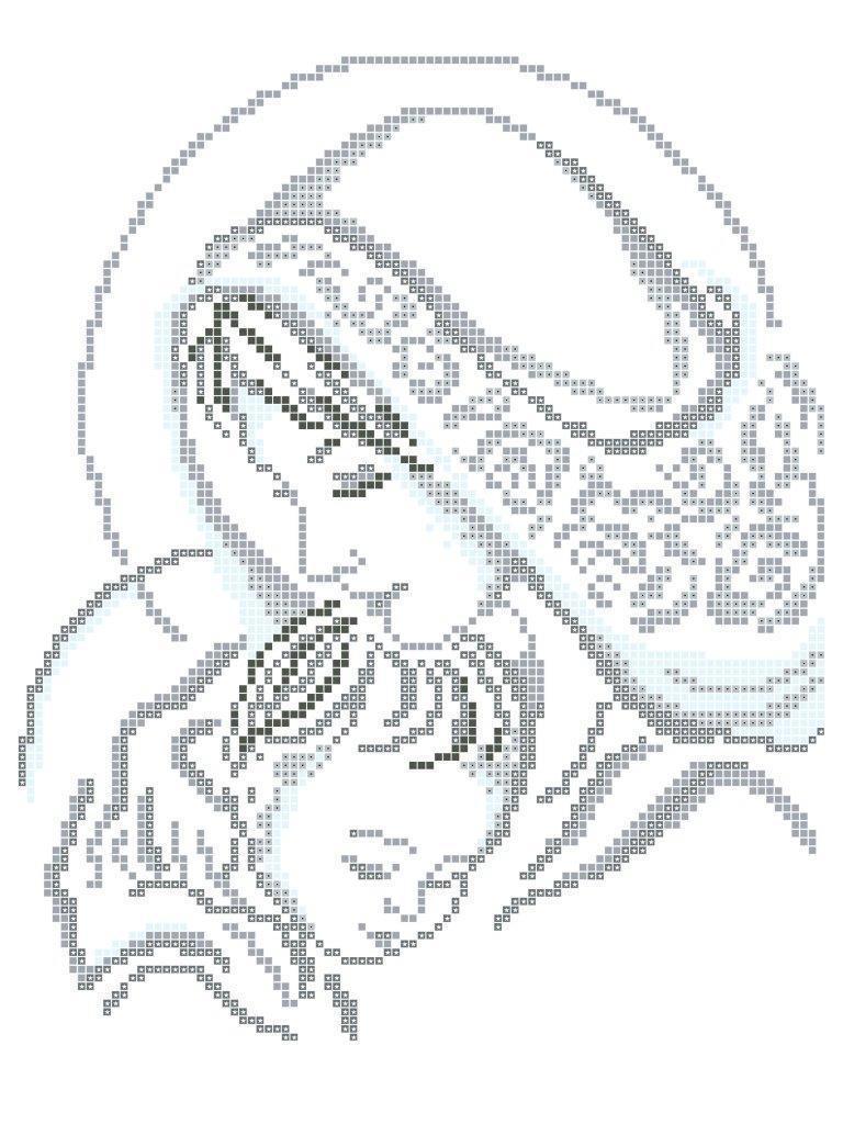Схема для вышивки / вышивания бисером «Мадонна з дитиною»  (A4) 20x25