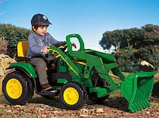 Детский Электромобиль Peg Perego экскаватор John Deere Ground Loader 12V с ковшом, мощность 330W, фото 3