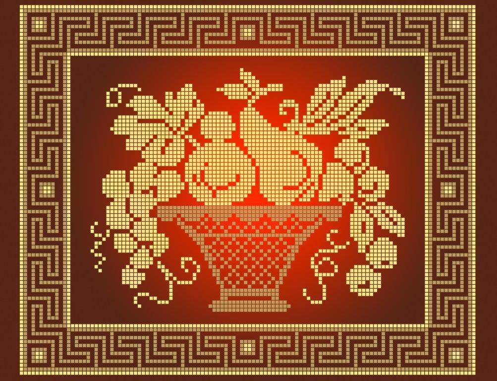 Схема для вышивки / вышивания бисером  «Натюрморт з грушею» (A4) 20x25