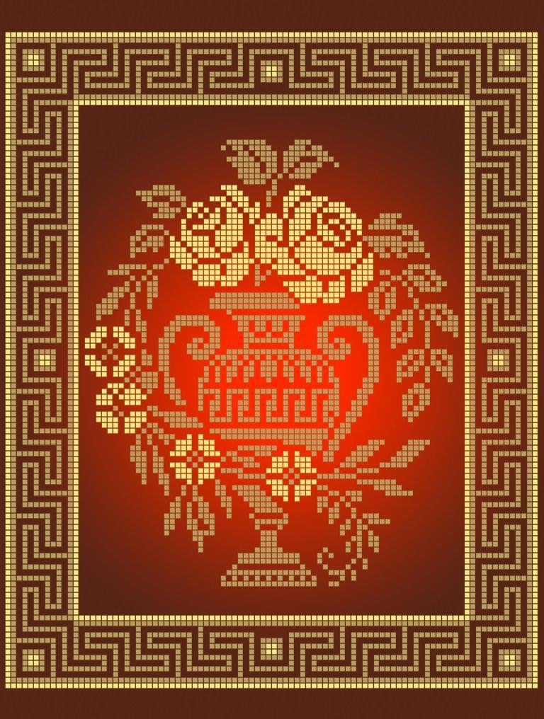 Схема для вышивки / вышивания бисером  «Золота амфора» (A4) 20x25