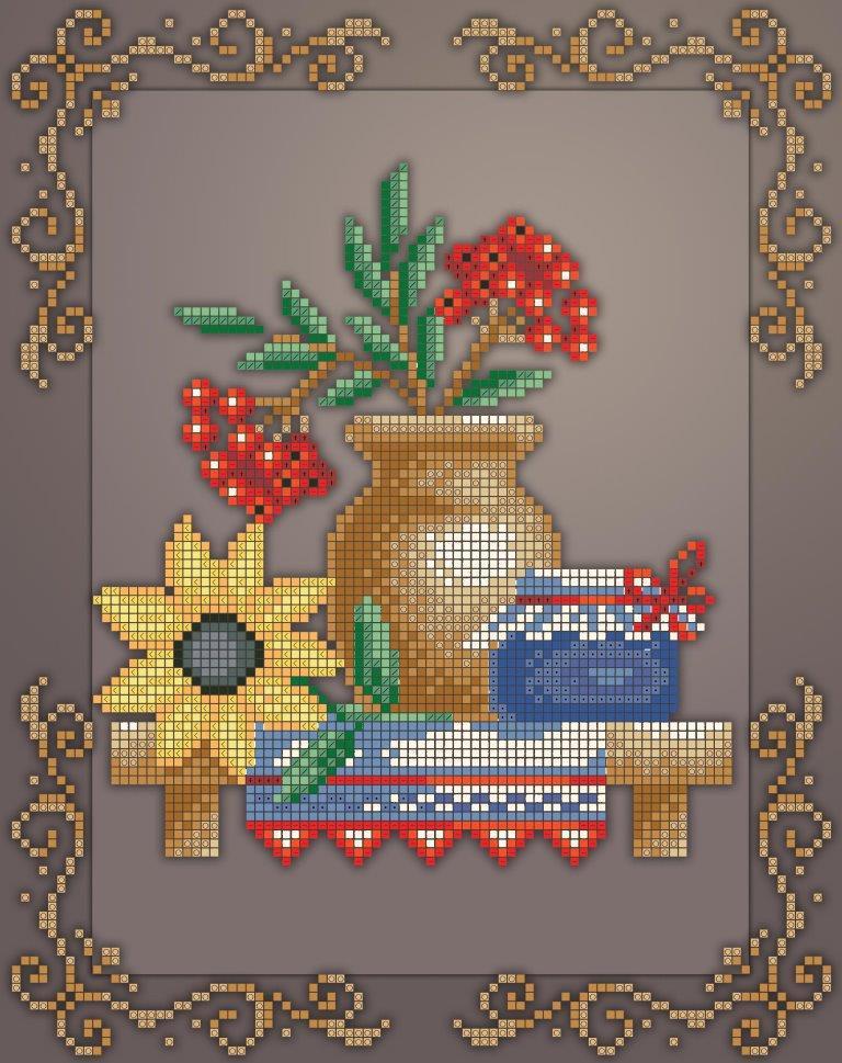 Схема для вышивки / вышивания бисером «Кух натюрм /горобина/» (A4) 20x25