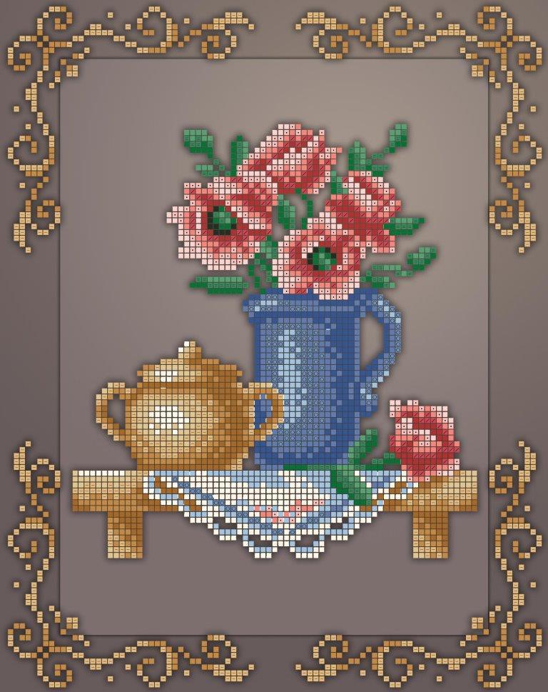 Схема для вышивки / вышивания бисером «Кух натюрм /маки/» (A4) 20x25