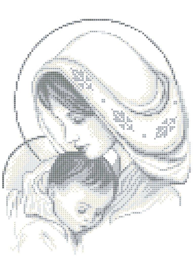 Схема для вышивки / вышивания бисером «Мадонна з немовлям 3350» (A4) 20x25