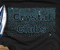 Наклейки на парео Crystal Clubs (Стекло,3мм-бирюз.)