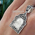 Кулон Святая Матрона серебро с эмалью - Серебряная иконка Святая Матрона, фото 5