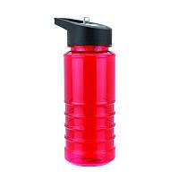 Бутылка Bruno пластиковая, с носиком-трубочкой, красная, 550 мл