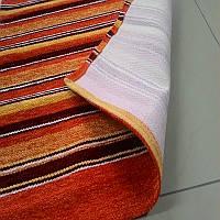 Яркий сочный оранжевый ковер в кухню ванную или детскую, фото 1