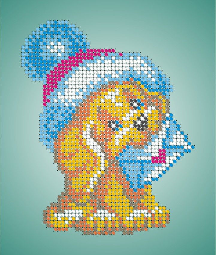 Схема для вышивки / вышивания бисером «Собачка з конвертом» (A5) 15x18