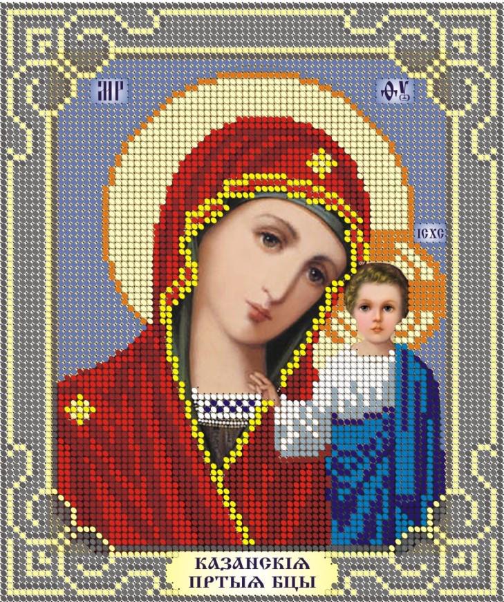 Схема для вышивки / вышивания бисером «МБ Казанська Rus-ЧВ-2011(10)» (A5) 15x18