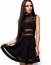 Женское расклешенное платье со вставками из сетки (Мартин kr), фото 3