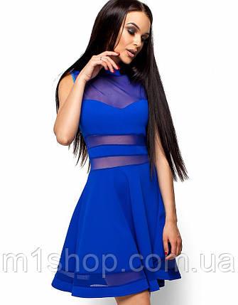 Женское расклешенное платье со вставками из сетки (Мартин kr), фото 2