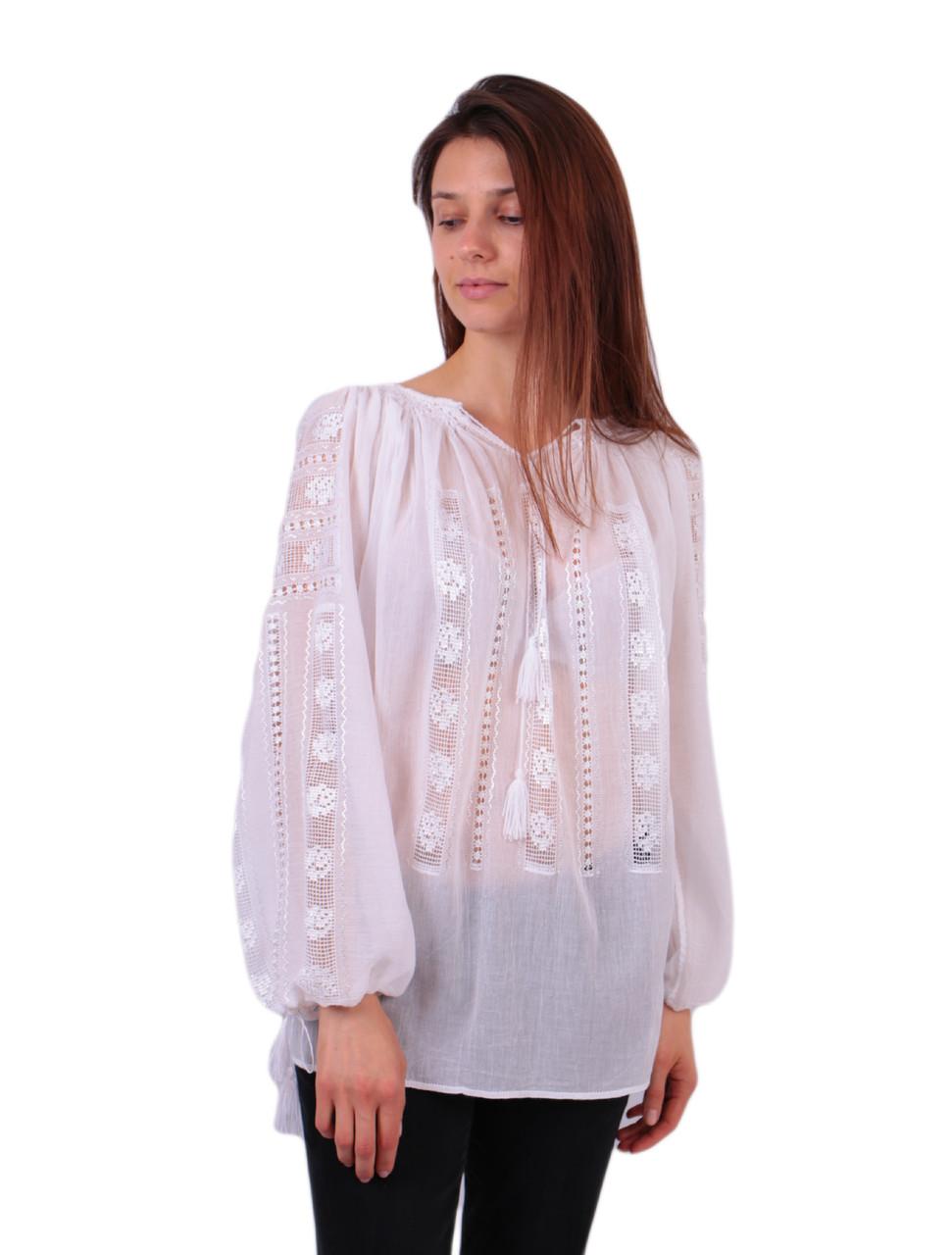 Жіноча вишита сорочка блузка марльовка з білим орнаментом  продажа ... 618a2b01bbfe1
