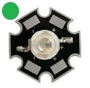 Светодиод 3 Вт (3 W) зеленый