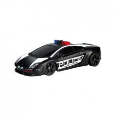 Автомобиль радиоуправляемый -LAMBORGHINI - LP560-4 GALLARDO POLICE (черный, 1:28, свет мигалки)