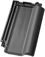 Керамическая черепица NELSKAMP модель Nibra F10u цвет ангоб состаренный черный (32)