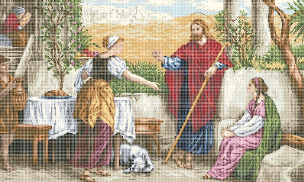 Схема для вышивки / вышивания бисером «Ісус, Марта і Марія» (В1) 70x100