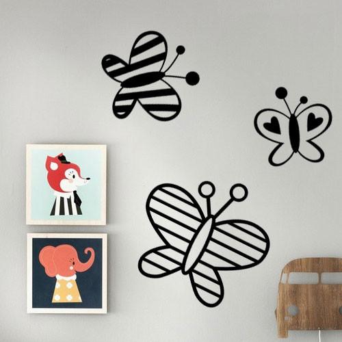 Акция! Наклейка Веселые бабочки