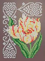 Схема для вышивки / вышивания бисером «Тюльпан 2345» (A5) 15x18