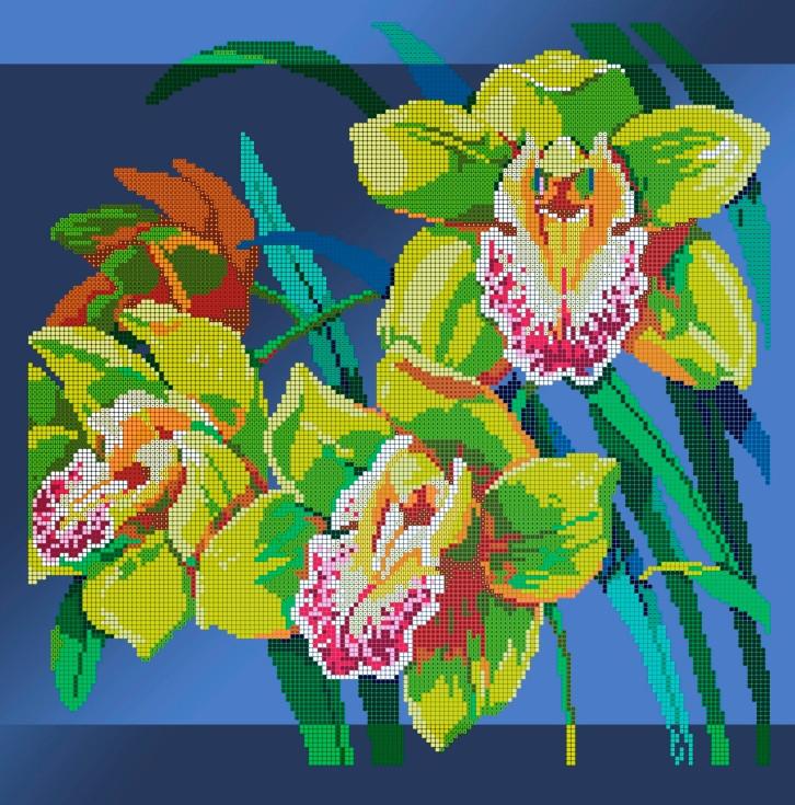 Схема для вышивки / вышивания бисером «Орхідея цимбідіум» (40x45)