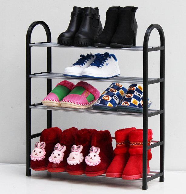 Складная полка стойка для обуви 4 яруса ( подставка органайзер для обуви )