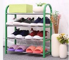Складная полка стойка для обуви 4 яруса ( подставка органайзер для обуви ), фото 2