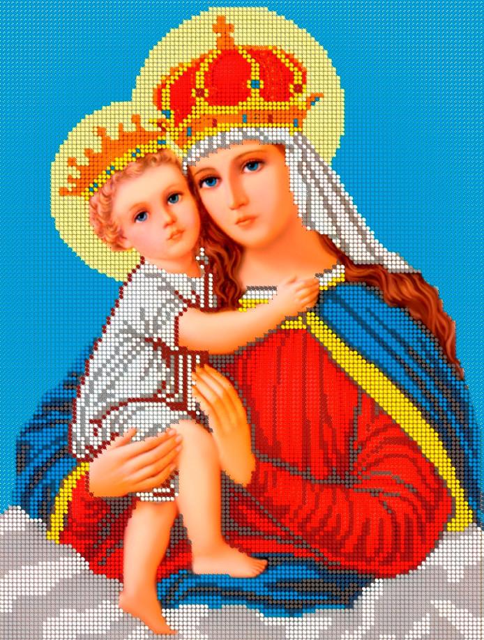 Схема для вышивки / вышивания бисером «Мадонна з немовлям» (A3) 30x40