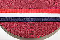 ТЖ 30мм (50м) красный+белый+т.синий, фото 1