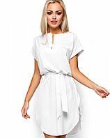 Женское платье свободного кроя с поясом (Тринити kr)