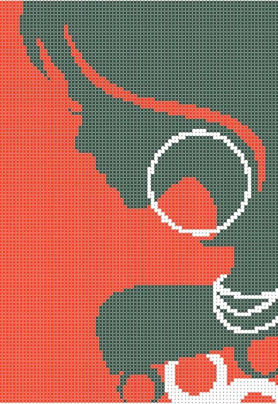 Схема для вышивки / вышивания бисером «Мулатка»  (A4) 20x25