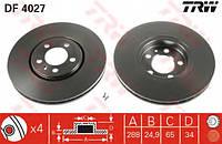 Диски тормозные передние Skoda Octavia, Fabia, Roomster 1.2TSI, 1.4TFSI, 2.0TDI 1J0615301C