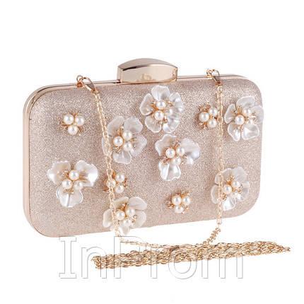 Вечерняя сумка Bluebell Flower Golden, фото 2