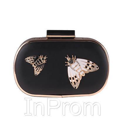 Вечерняя сумка Bluebell Butterfly Black, фото 2