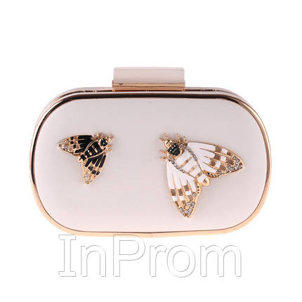 Вечерняя сумка Bluebell Butterfly White, фото 2