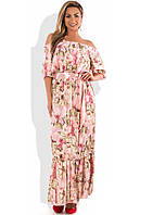 Красивое женское платье в пол с открытыми плечами размеры от XL ПБ-509