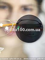 Серая солнцезащитная линза для зрения с диоптриями